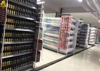 Pé resistente da base do shelving do supermercado com obscuridade alta do parafuso do ajuste 1.8M - cinza